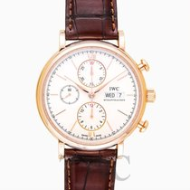 IWC Portofino Chronograph White Rose Gold/Leather 42mm - IW39102