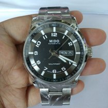Mido Multifort Gent Black Dial Steel Case Days M0054301105280