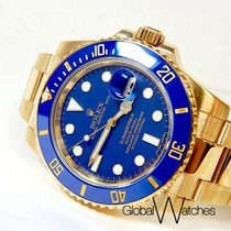 Rolex 18K Yellow Gold Ceramic Submariner Black 116618 Unworn