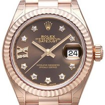 ロレックス (Rolex) Lady-Datejust 28 18 kt Everose-Gold 279175 Choco...