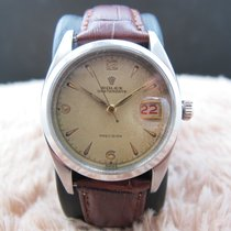 Rolex OYSTER DATE 6494 Creamy Explorer Dial with Red/Black Date