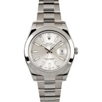 Rolex Datejust II 116330 Stainless Steel Oyster Band Smooth...