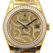 Rolex Datejust Pearlmaster Arabesque Diamonds 18k Yellow Gold