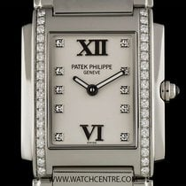 Patek Philippe S/S Timeless White Dial Diamond Set Ladies...