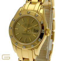 Rolex Lady-Datejust Pearlmaster 18K.Gold Ref.69318