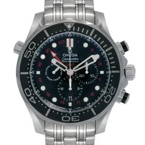 Omega Seamaster Diver 300M Co-Axial GMT Chronograph 44MM Men's...