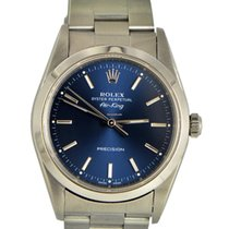 Rolex Air King / Stainless Steel / Blue dial with sticks/