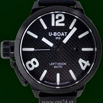 U-Boat Classico Left Hook IFO 53mm Black PVD Carbon Fibre B&P