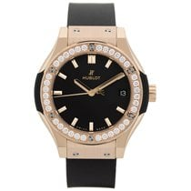 Hublot Classic Fusion King Gold Diamonds Quartz 33 mm