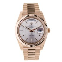 Rolex DAY-DATE 40 Rose Gold President Sundust Index Dial