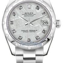 Rolex Datejust 31mm Stainless Steel 178344 Meteorite Diamond...