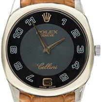 롤렉스 (Rolex) Cellini Danaos Midsize 4233-9-BLACK-GOLD Black...