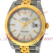 Rolex Datejust II 41mm, White Index Dial, Fluted Bezel -...