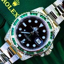 Rolex GMT Master 2 Custom Emerald & Diamond set 116710LN