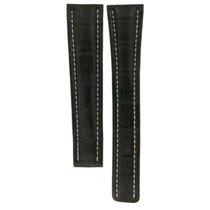 Breitling Black Crocodile Leather Strap (xl) For Deployment...