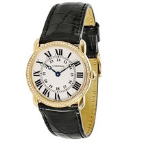 Cartier Ronde Louis WR000151 Women's Diamond Watch in18K...