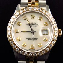 Rolex Mens Rolex Datejust 2 Tone Oyster 18k Stainless Steel...