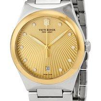 Victorinox Swiss Army Victoria Gold Tone Steel Womens Watch...