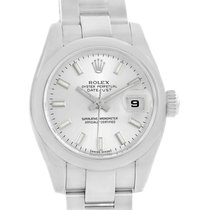 Rolex Datejust Silver Dial Domed Bezel Steel Ladies Watch 179160