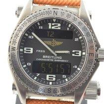 Breitling Emergency Herren Uhr E76321 Titan Top Zustand Rar...