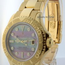 Rolex Yachtmaster 18k Yellow Gold Tahitian MOP Dial Watch...