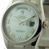 Rolex Day-Date Platinum President Ice Blue Roman Dial