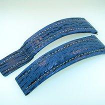 Breitling Hai Haileder Armband Blau 22/18 Mm Für Faltschliesse...