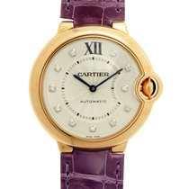 Cartier Ballon Bleu 18k Rose Gold Silver Automatic WE902028