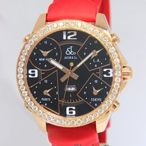 Jacob & Co. . Five Time Zone 18k Rose Gold Diamond 47mm...