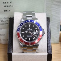 Rolex Gmt Master 16700 Pepsi Blue & Red Bezel Stainless...