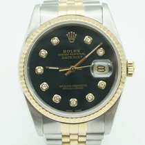 Rolex Datejust 36mm Two Tone Black Diamond Dial Jubilee band...