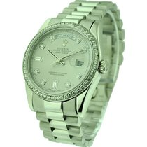 Rolex Used 18239 White Gold Mens President with Factory...