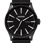 Nixon A105-005 Sentry Leather Black White 42mm 10ATM