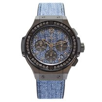 Χίμπλοτ (Hublot) Big Bang Jeans Ceramic Black Diamonds 41 mm