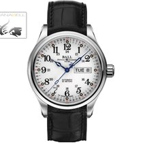 Ball Trainmaster 60 Seconds, Ball RR1102,  White dial