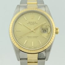 Rolex Oyster Perpetual Date Automatic Steel and Gold 15223