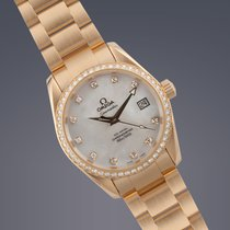 Omega Seamaster Aquaterra 18ct yellow gold automatic watch