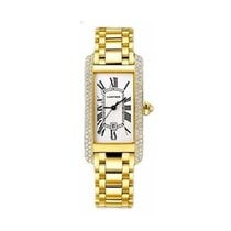 Cartier WB7019K2 Tank Americaine Mid Size in Yellow Gold with...