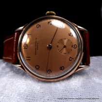 RECORD Mint Rose Gold Filled 35m Pre Longines Sub Seconds Classic
