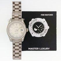 Rolex 179159 Datejust Silver Diam Dial President Bracelet WG