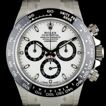 Rolex S/Steel Unworn White Dial Ceramic Bezel Daytona B&P...