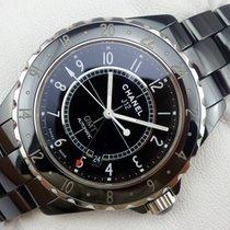 Chanel J12 GMT Automatic Black Ceramic - 42 mm - H2012