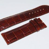 Chopard CROCO Lederband, braun  25/22 mm
