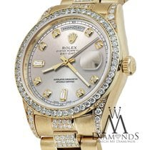 Rolex Presidential Day-date Silver Dial Diamond Accent Watch...