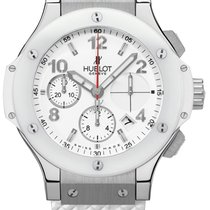 Hublot Steel  Rubber White Ladies Watch