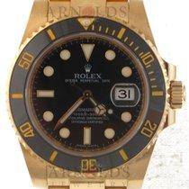 Ρολεξ (Rolex) 18kt Yellow Gold Submariner Black Dial And Black...