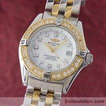 Breitling Lady Callistino Damenuhr Diamanten Gold / Stahl D72345
