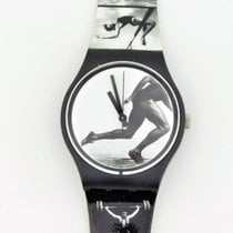 Swatch 1996 Olympic Games Swiss Made Black And White Watch