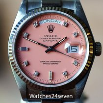 Rolex President Day Date White Gold, Pink Diamond Stella Dial,...