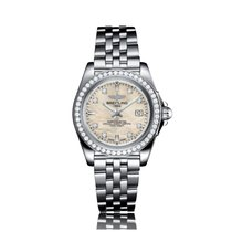 Breitling Galactic Quartz Stainless Steel Mother-Of-Pearl Dial...